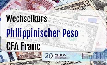 Philippinischer Peso in CFA Franc