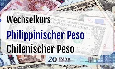 Philippinischer Peso in Chilenischer Peso