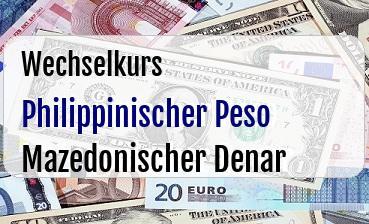Philippinischer Peso in Mazedonischer Denar