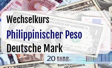 Philippinischer Peso in Deutsche Mark
