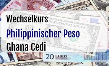 Philippinischer Peso in Ghana Cedi
