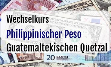 Philippinischer Peso in Guatemaltekischen Quetzal