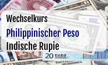 Philippinischer Peso in Indische Rupie