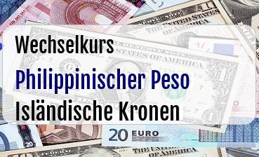 Philippinischer Peso in Isländische Kronen