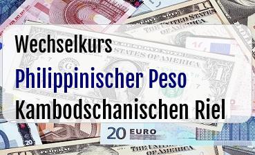 Philippinischer Peso in Kambodschanischen Riel