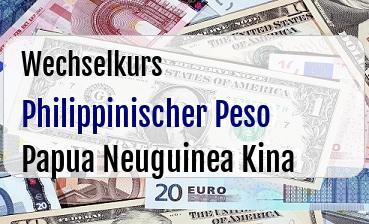 Philippinischer Peso in Papua Neuguinea Kina