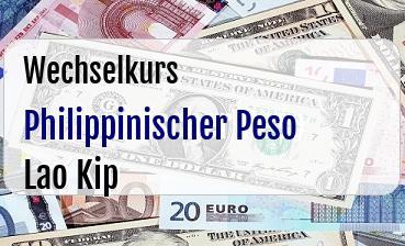 Philippinischer Peso in Lao Kip