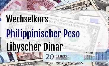 Philippinischer Peso in Libyscher Dinar