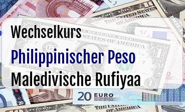 Philippinischer Peso in Maledivische Rufiyaa