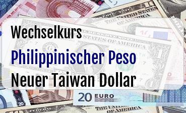 Philippinischer Peso in Neuer Taiwan Dollar