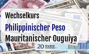 Philippinischer Peso in Mauritanischer Ouguiya