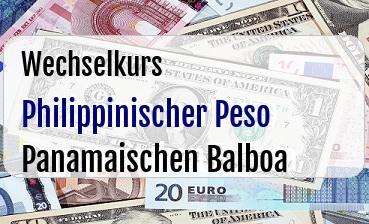 Philippinischer Peso in Panamaischen Balboa