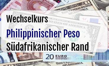 Philippinischer Peso in Südafrikanischer Rand
