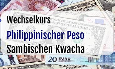 Philippinischer Peso in Sambischen Kwacha