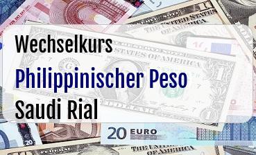 Philippinischer Peso in Saudi Rial
