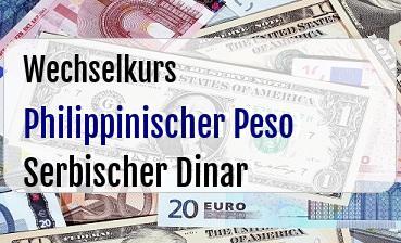 Philippinischer Peso in Serbischer Dinar