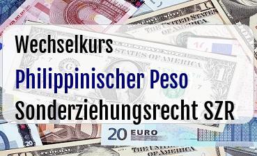 Philippinischer Peso in Sonderziehungsrecht SZR
