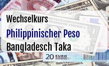 Philippinischer Peso in Bangladesch Taka