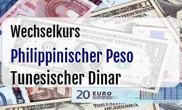 Philippinischer Peso in Tunesischer Dinar