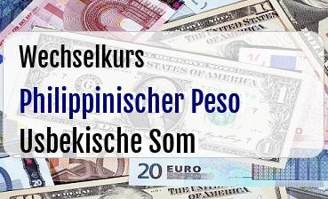 Philippinischer Peso in Usbekische Som