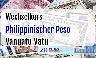 Philippinischer Peso in Vanuatu Vatu