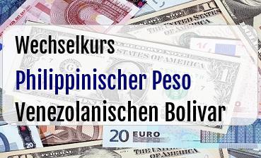 Philippinischer Peso in Venezolanischen Bolivar