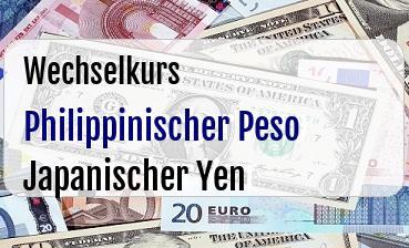 Philippinischer Peso in Japanischer Yen