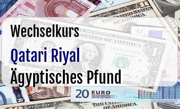 Qatari Riyal in Ägyptisches Pfund