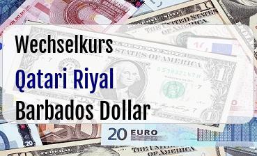 Qatari Riyal in Barbados Dollar