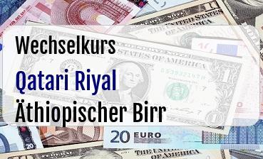Qatari Riyal in Äthiopischer Birr