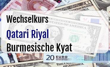 Qatari Riyal in Burmesische Kyat