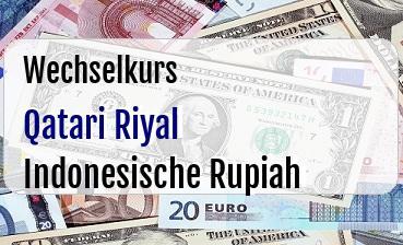Qatari Riyal in Indonesische Rupiah
