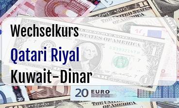 Qatari Riyal in Kuwait-Dinar