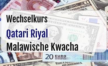 Qatari Riyal in Malawische Kwacha