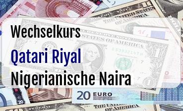 Qatari Riyal in Nigerianische Naira