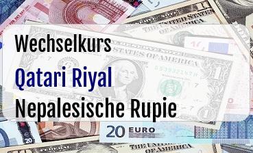 Qatari Riyal in Nepalesische Rupie