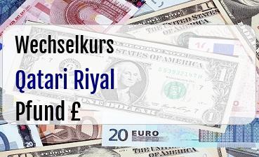 Qatari Riyal in Britische Pfund