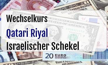Qatari Riyal in Israelischer Schekel
