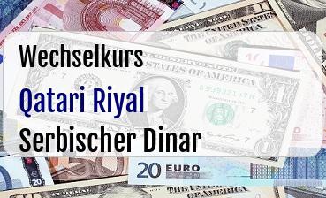 Qatari Riyal in Serbischer Dinar