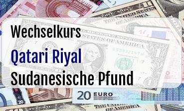 Qatari Riyal in Sudanesische Pfund