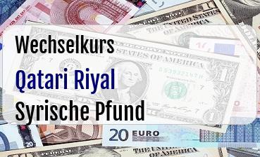 Qatari Riyal in Syrische Pfund
