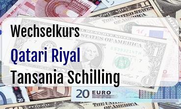 Qatari Riyal in Tansania Schilling