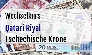 Qatari Riyal in Tschechische Krone
