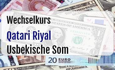 Qatari Riyal in Usbekische Som
