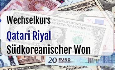 Qatari Riyal in Südkoreanischer Won