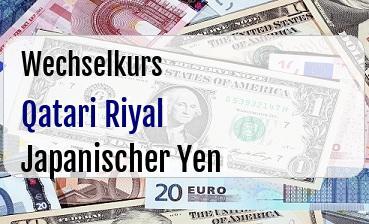 Qatari Riyal in Japanischer Yen