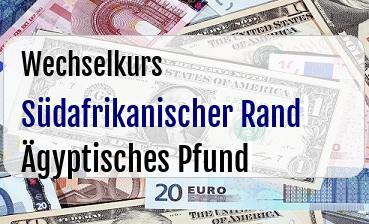 Südafrikanischer Rand in Ägyptisches Pfund