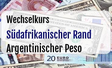 Südafrikanischer Rand in Argentinischer Peso