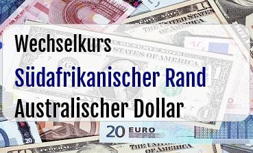 Südafrikanischer Rand in Australischer Dollar