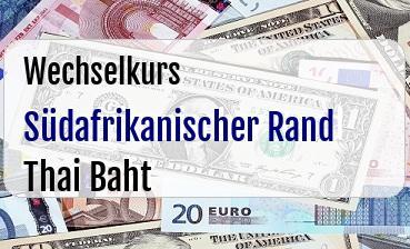 Südafrikanischer Rand in Thai Baht